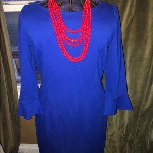 Talbots Blue Midi Dress